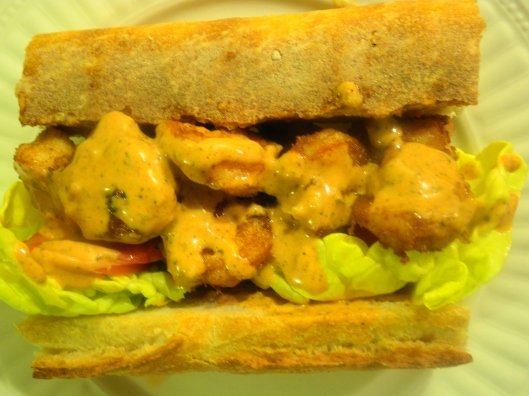 My Homemade Shrimp Po' Boy