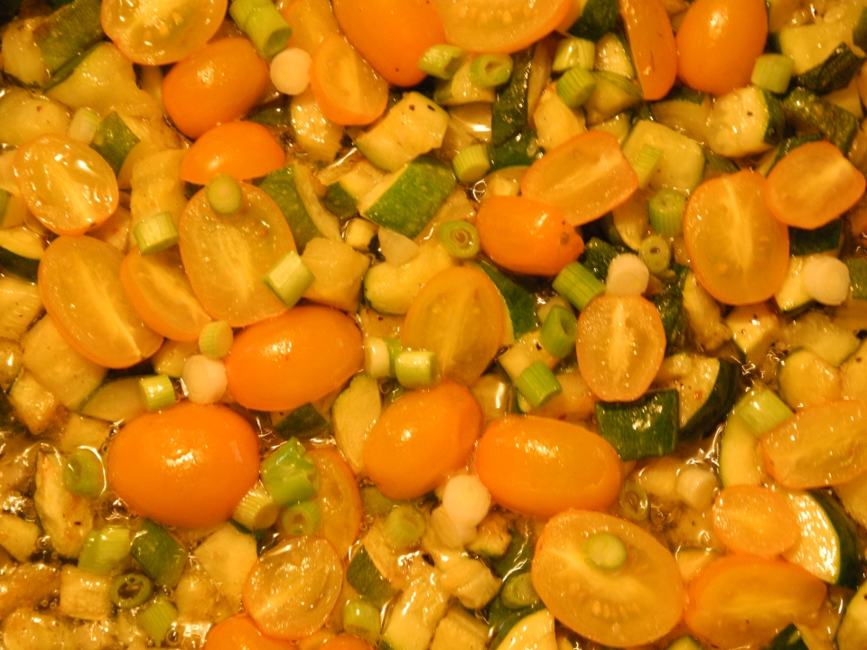 Sauteed summer vegetables