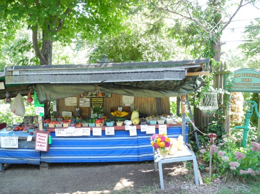 A charming country vegetable stand