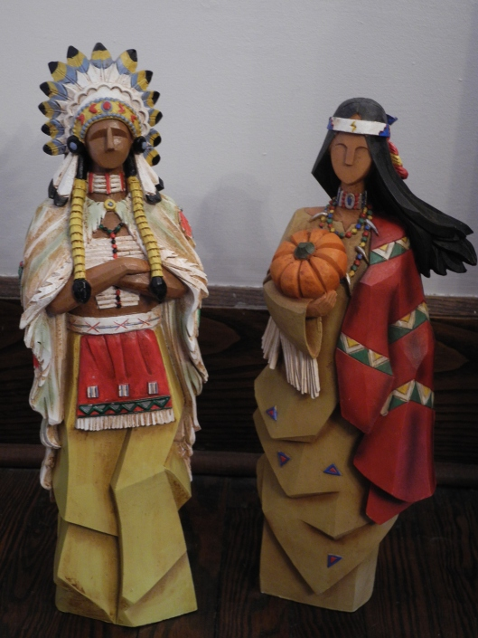 Native american sculptures fpr Thanksgiving