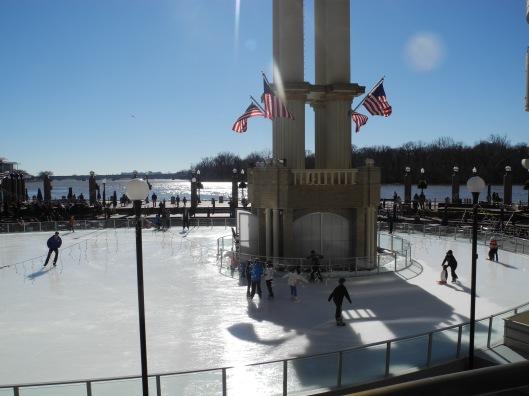skating rink at Washington harbor