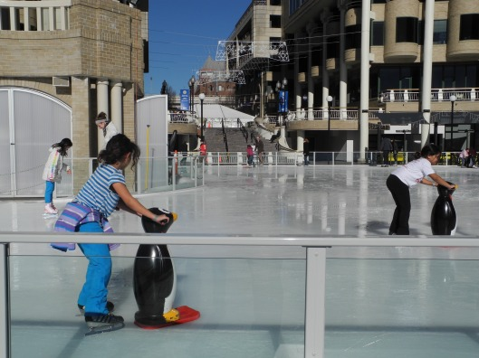 Learning to skate with a penguin