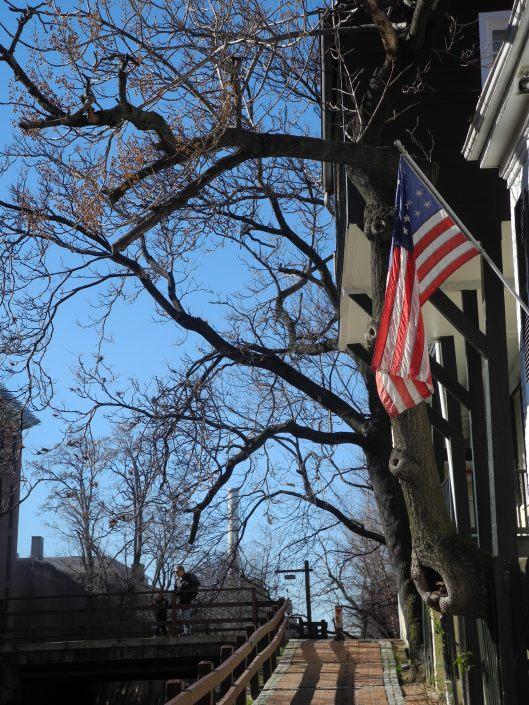 A flag flies in Georgetown