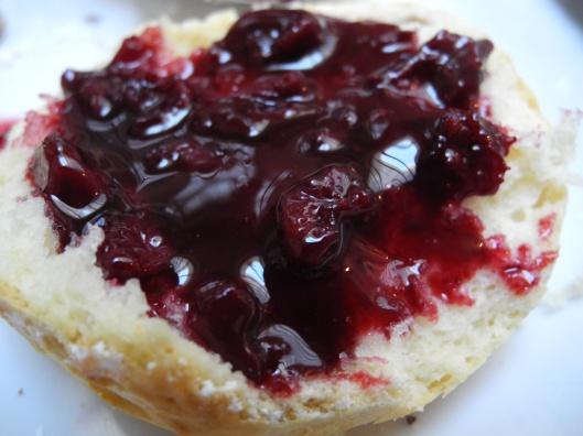 Cherry Jam on a scone