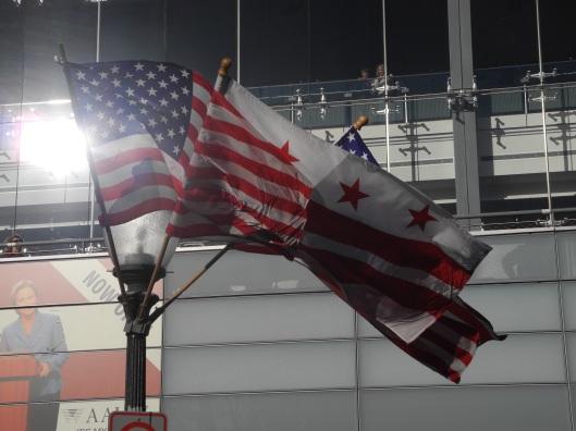 flags over Pennsylvania avenue