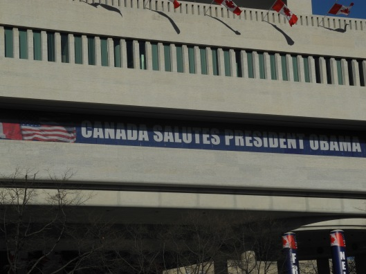 Banners on the Canadian Embassy for the Inauguration