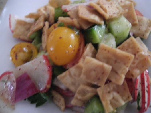 Fetoush salad close up