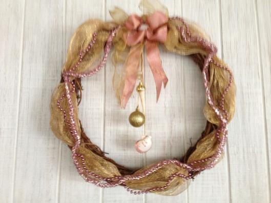 Pink Sea Christmas Wreath